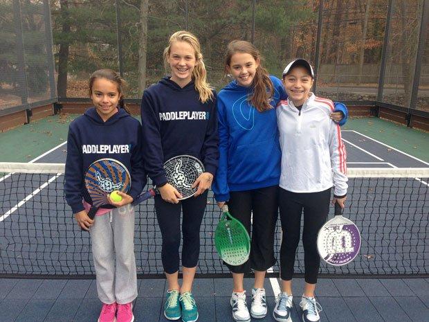 Congratulations to Alyssa Dimaio & Ava Ignatowich for winning the 12 and under Patterson Jr. Open!! Isabel Sanchez, Kelly Van Hoesen, Ava Ignatowich, Alyssa DiMaio